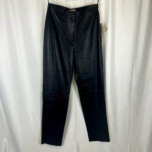 Sears Apostrophe Women's Black Leather Pants